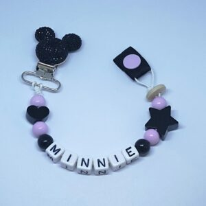 Black Sparkle Minnie Mouse Clip
