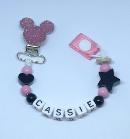 Pink Sparkle Soother Clip