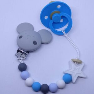 silicone Soother Clips_grey Boy