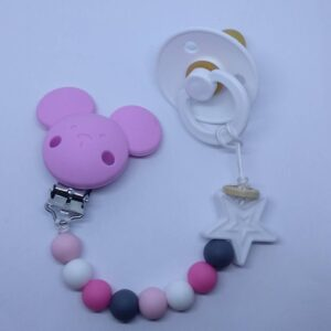 silicone Soother Clips_pink