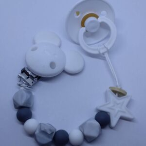silicone Soother Clips_white