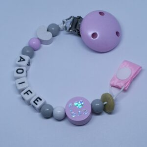 pink mom dad bead